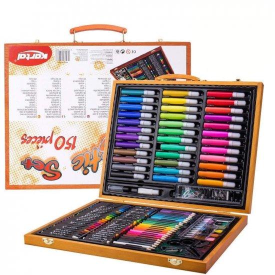 Набор для рисования Artistic Set 150 в деревянном кейсе фото