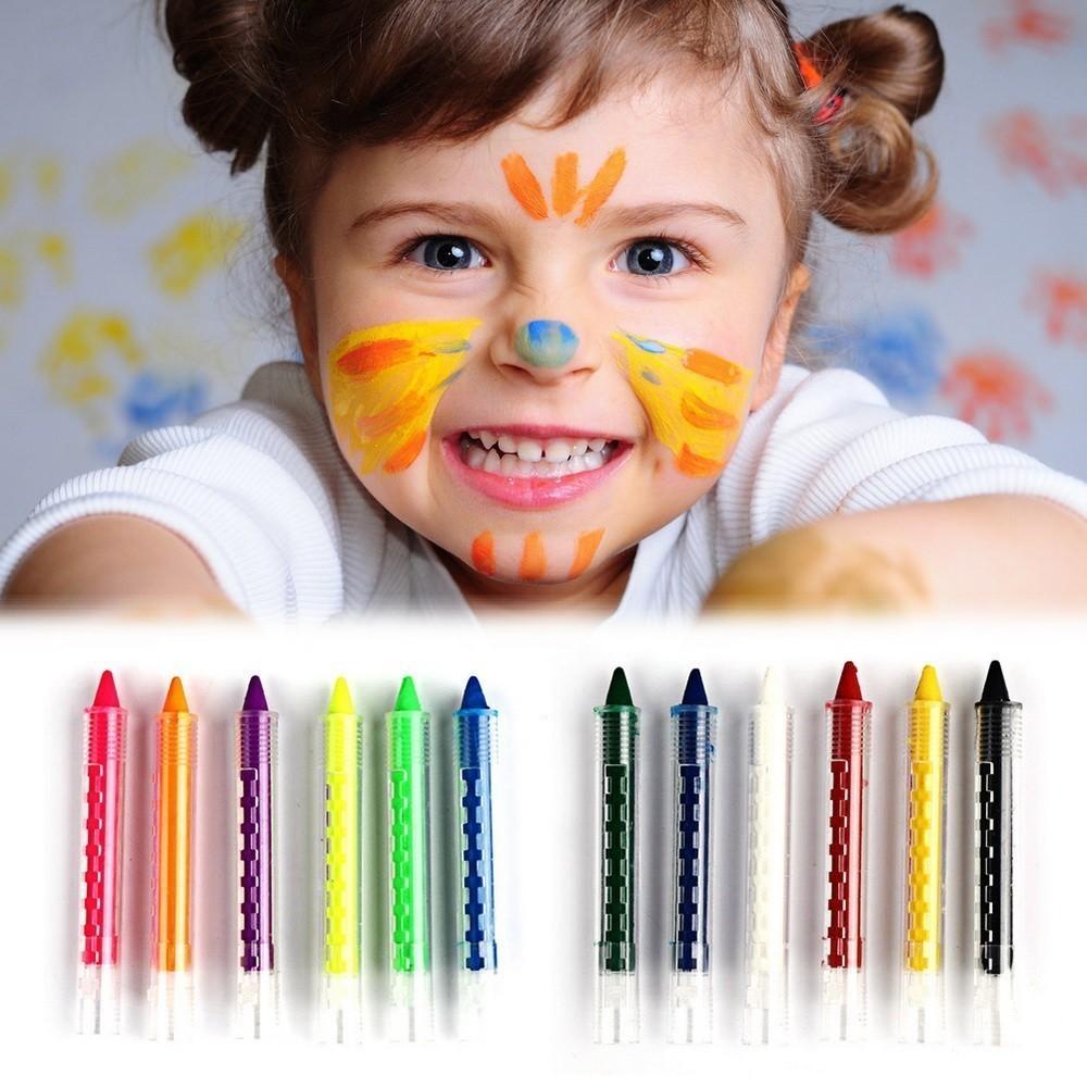 Карандаши для лица Colorful Body PaintingИгрушки для девочек<br>Хотите научиться делать самостоятельно аквагрим? Вам помогут карандаши для лица Colorful Body Painting. Главное – эти аксессуары являются совершенно безопасными для кожи даже для аллергиков!<br>