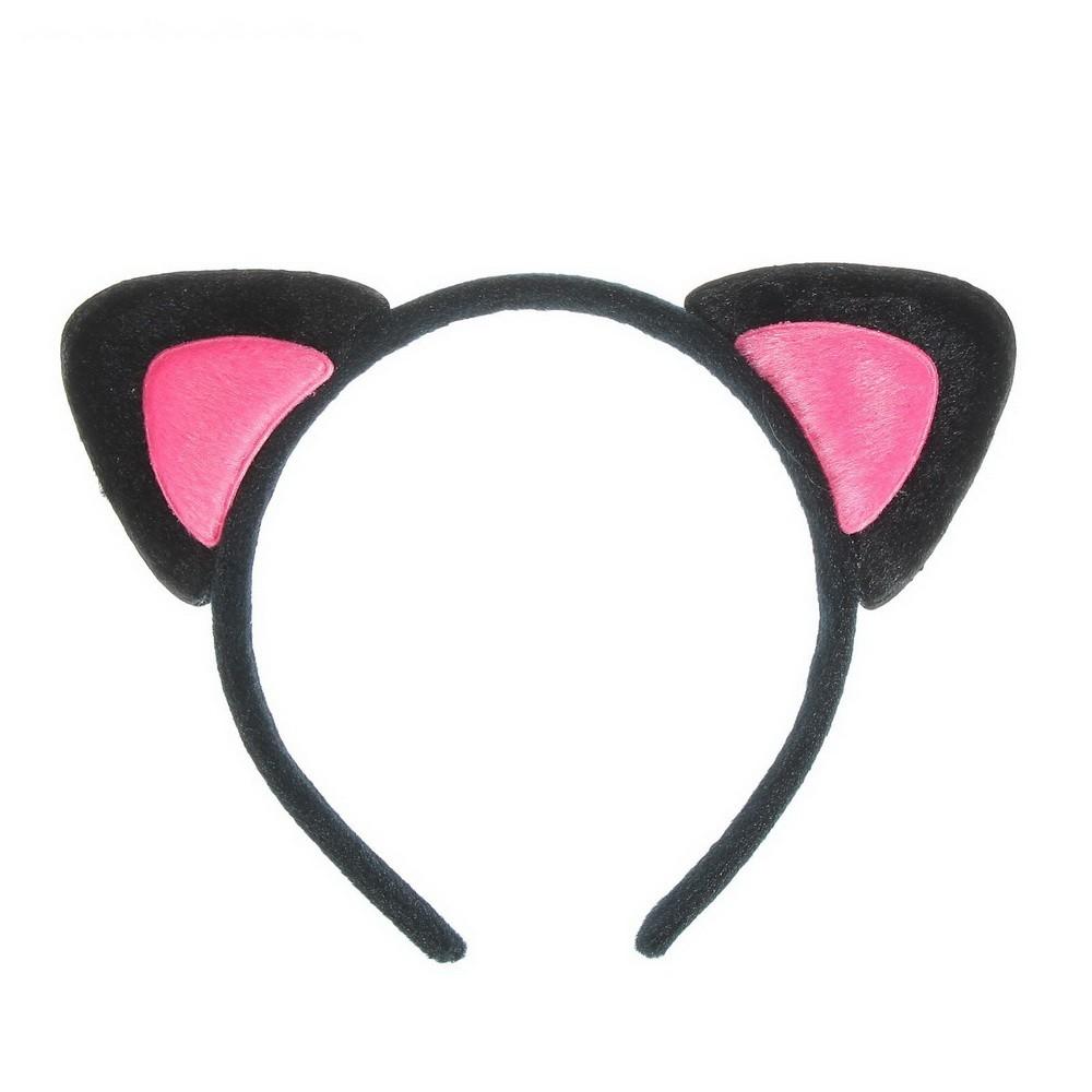 Карнавальный ободок - Кошачьи ушки, розовыйЗаколки и резинки<br>Ищете стильное украшение, которое дополнит ваш романтичный или игривый образ? Обязательно обратите внимание на карнавальный ободок «Кошачьи ушки розового цвета». Этот аксессуар прекрасно подойдет как молодым девушкам, так и маленьким принцессам!<br>