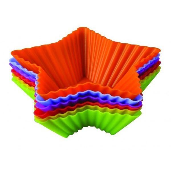 Набор силиконовых форм для выпечки Regent Inox Тарталетки звездыСиликоновые формы<br>Набор силиконовых форм для выпечки Regent Inox Тарталетки звезды украсит ваш праздничный стол красивыми и ароматными корзинками в виде звездочек. Яркие термостойкие аксессуары прослужат вам много лет!<br>