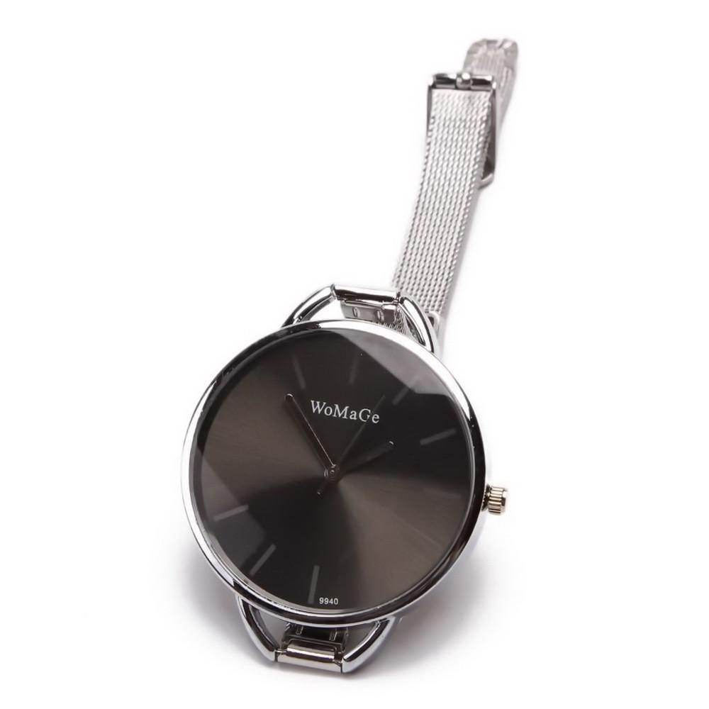 Строгие женские часы на стальном ремешке
