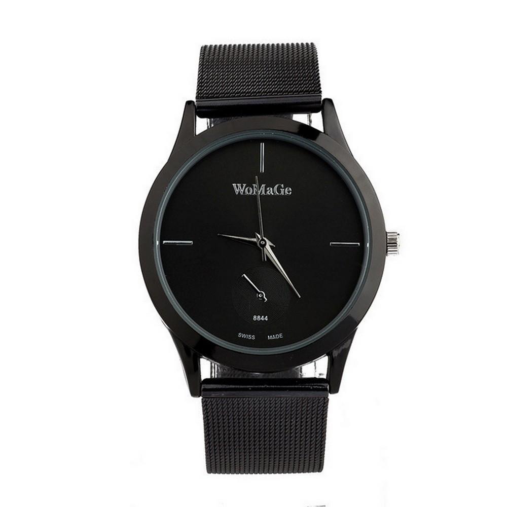 Мужские круглые часы «Респект» WOMAGEМеханические часы<br>Хотите своему возлюбленному полезный, стильный и надежный аксессуар? Посмотрите по доступной цене мужские круглые часы «Респект» WOMAGE. Кварцевое изделие прослужит много лет, а главное – подчеркнет индивидуальность!<br>