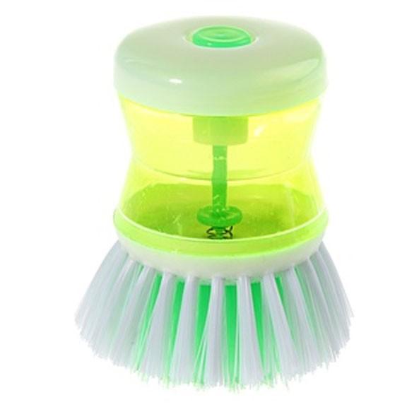 Щетка с дозатором для моющего средства, цвет микс