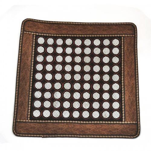 Нефритовый коврик - квадрат маленькие камни, 46х46 см