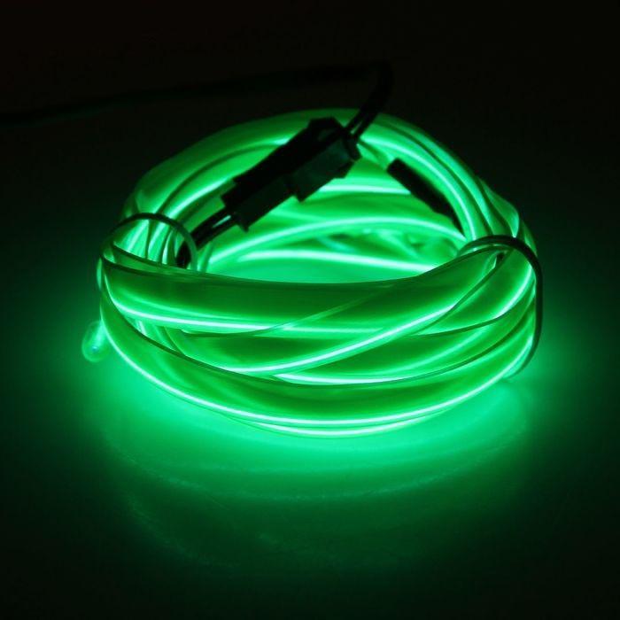 Неоновая нить для подсветки салона 2 м, зеленаяАвто - Электроника<br>Хотите обеспечить грамотно полезный и недорогой тюнинг своему автомобилю? Нет ничего проще! Вам поможет неоновая нить для подсветки салона 2 м, зеленая. Изделие легко фиксируется в любом удобном для вас месте!<br>