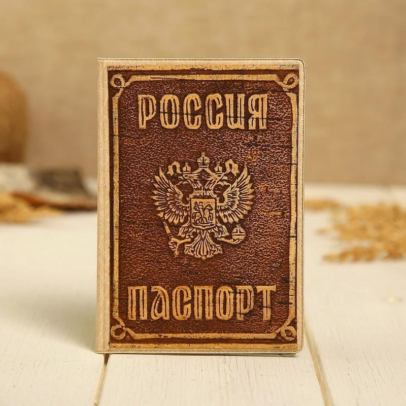 Обложка - Россия, для паспорта, декорированная, береста фото