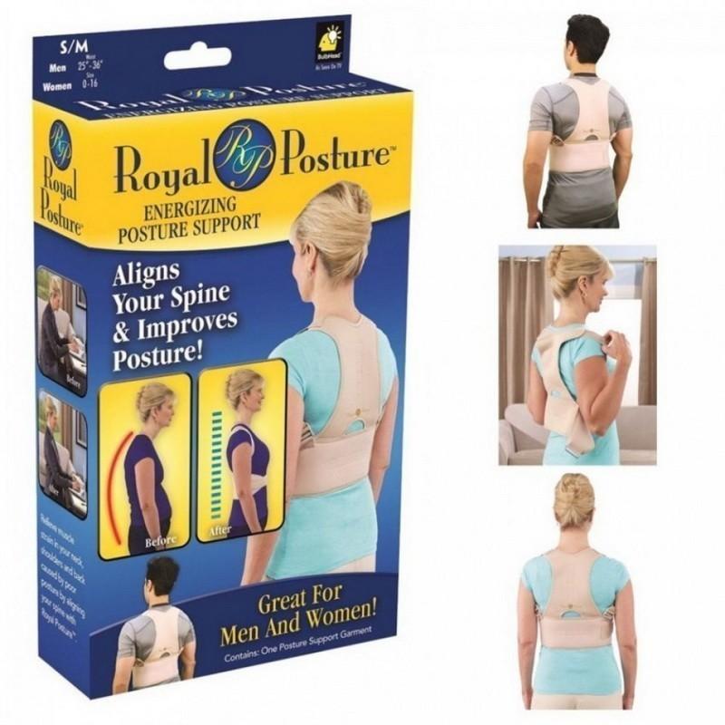 Корсет для спины Royal Posture (корректор осанки Рояль Посче), универсальный, S-M