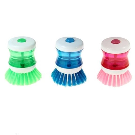 Щетка с дозатором для моющего средства, цвет микс от MELEON