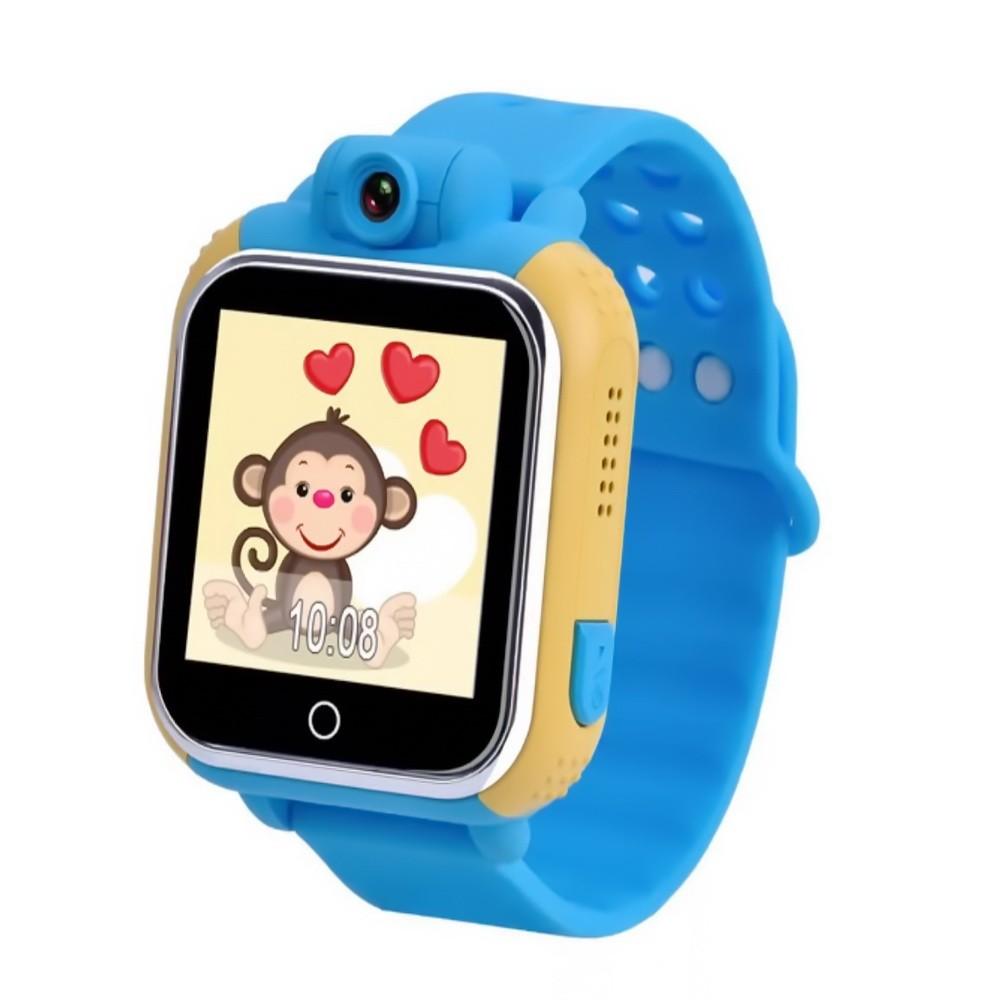 Умные детские часы Q100 c GPS трекером и камерой, голубойУмные Smart часы<br>Хотите быть всегда уверенным, что с вашим ребенком все хорошо? Переживаете за разные ситуации в школе? Доверили чаду самостоятельно добираться до учебного заведения? Умные детские часы Q100 c GPS трекером и камерой станут настоящей находкой, поскольку вы всегда будете в курсе о ситуации вокруг ребенка. Главное – теперь связаться с малышом можно в любую секунду!<br>