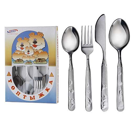 Набор столовых предметов детский, 4 педмета — Топтыжка