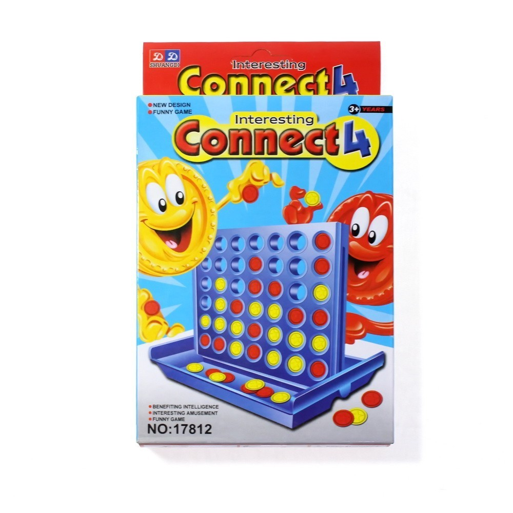 Настольная игра Connect 4Настольные игры<br>Ищете компактную настольную игру, которая просто не может не нравиться? Это – настольная игра Connect 4, известная многим взрослым людям из детства. Модифицированная версия крестиков-ноликов привлечет как малышей, так и взрослых людей!<br>