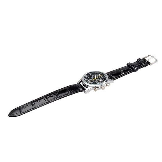 Модные кварцевые часы - черные