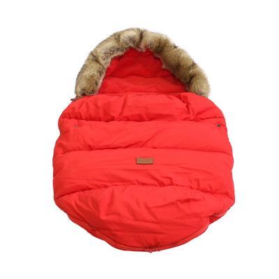 Купить Тёплый меховой конверт с опушкой Dearest от 0 до 2х лет, Красный, Товары для новорожденных