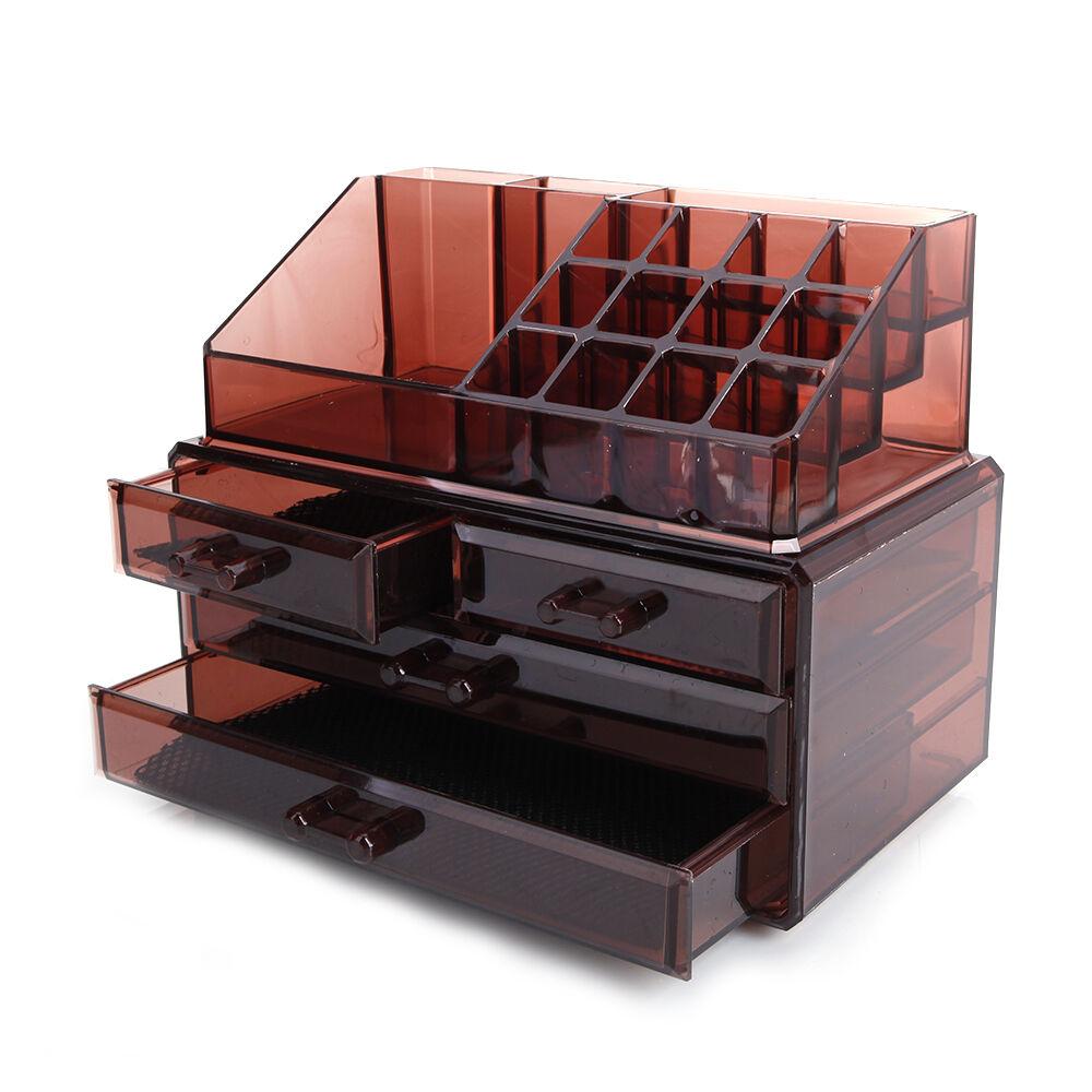 Акриловый органайзер для косметики Multi-Functional Storage Box QFY-3112, бордовый