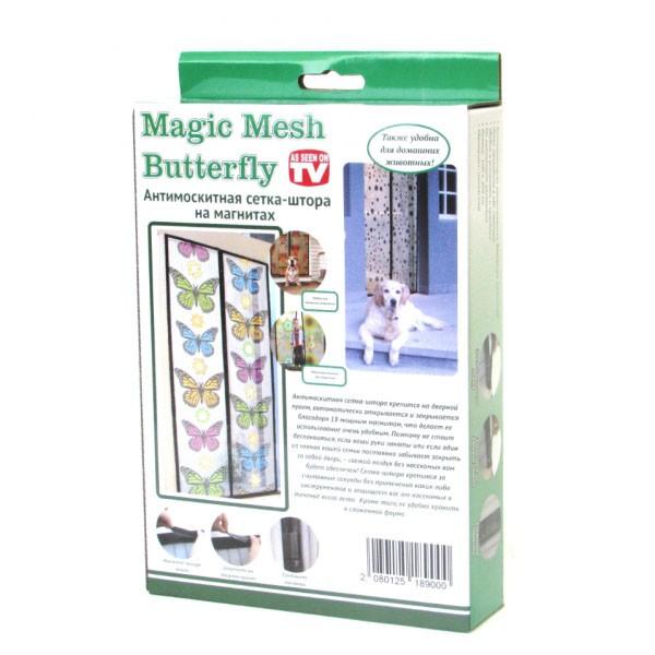 Москитная сетка с бабочками - Magic Mesh Butterfly, 18 магнитов от MELEON
