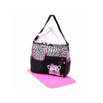 Многофункциональная сумка для мам с пеленкой Зверята, 39х15х32 см, розовый