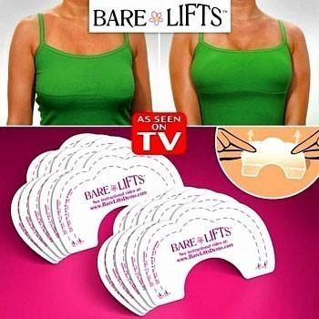 Наклейки для груди «невидимый бюстгальтер» Bare LiftsБюстгальтеры<br>Сделать вашу грудь более высокой, пышной и соблазнительной помогут наклейки для подтяжки груди Bare Lifts. Подходят для любого размера чашки груди - A, B, C, D. Предусмотрена возможность подгонки размера наклейки под необходимый размер.<br>