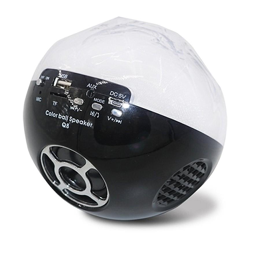 Цветомузыкальная колонка Bluetooth и MP3 плеер, цвет черный