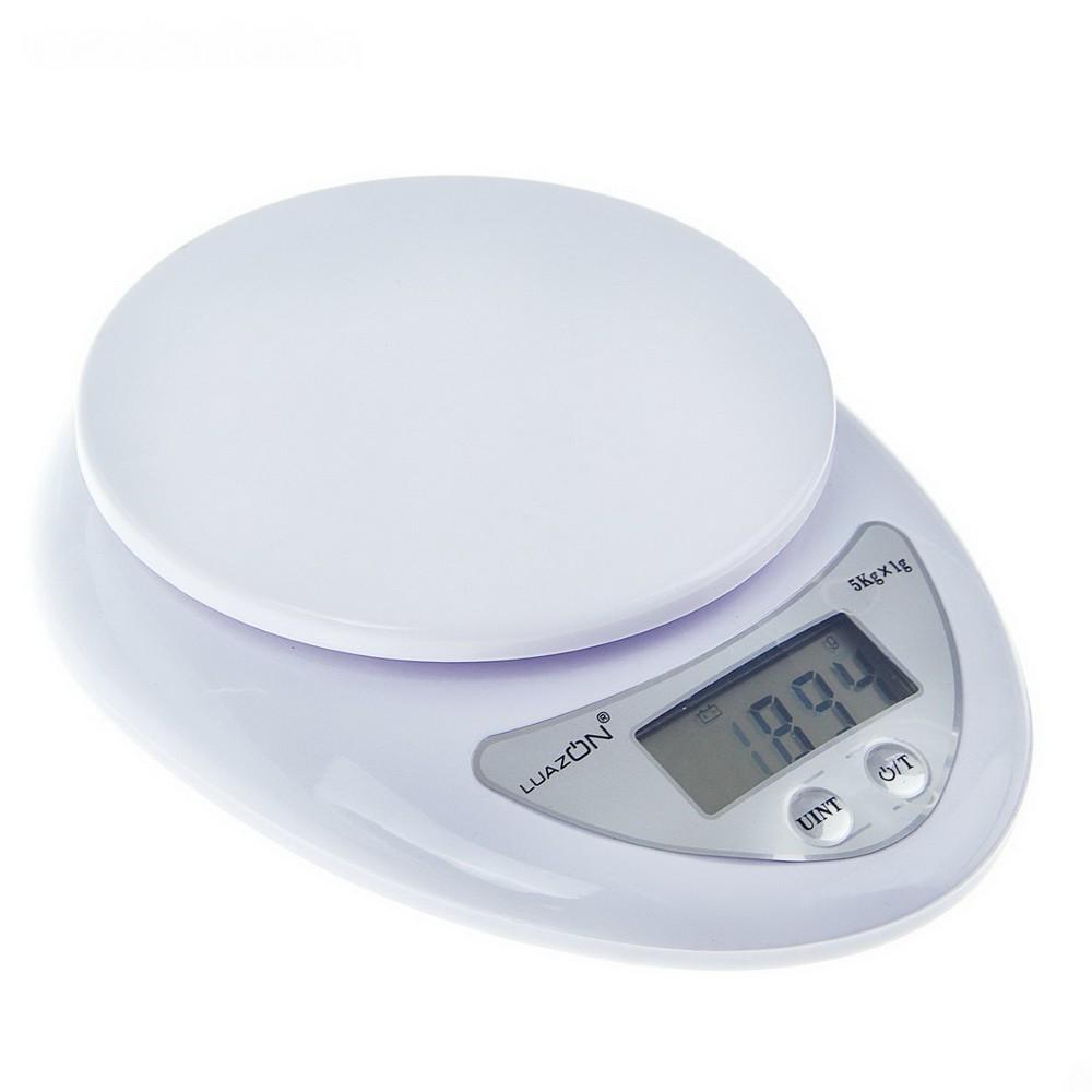 Весы LuazON LVK-501, электронные, кухонные, до 5 кг, белые (не в комплекте)