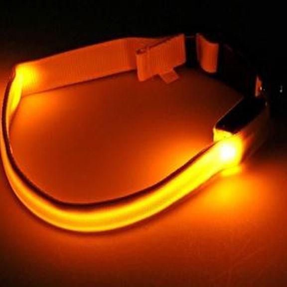 Светящийся ошейник - 40-45 см - желтый от MELEON