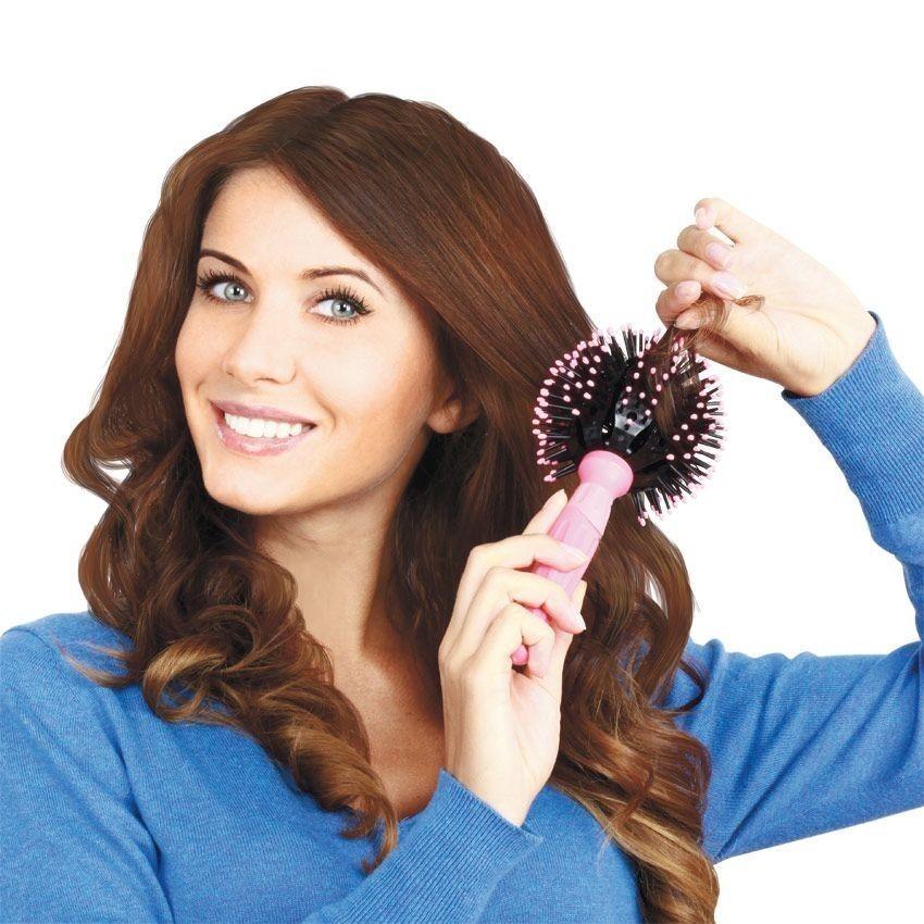 Расческа шар - для создания локоновРасчески<br>Не хотите разрушать структуру волос утюжками, но не можете отказаться от роскошных локонов? Интернет магазин Мелеон знает решение! Вам нужно купить инновационную расческу шар!<br>