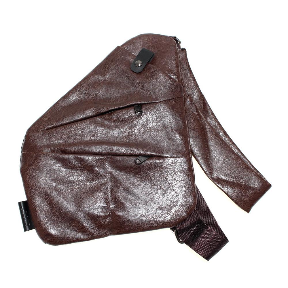Мужская сумка-кобура из кожи Fino, коричневый