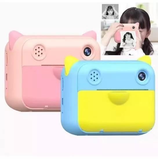 Детская камера с мгновенной печатью снимков Children's Print Camera, голубой