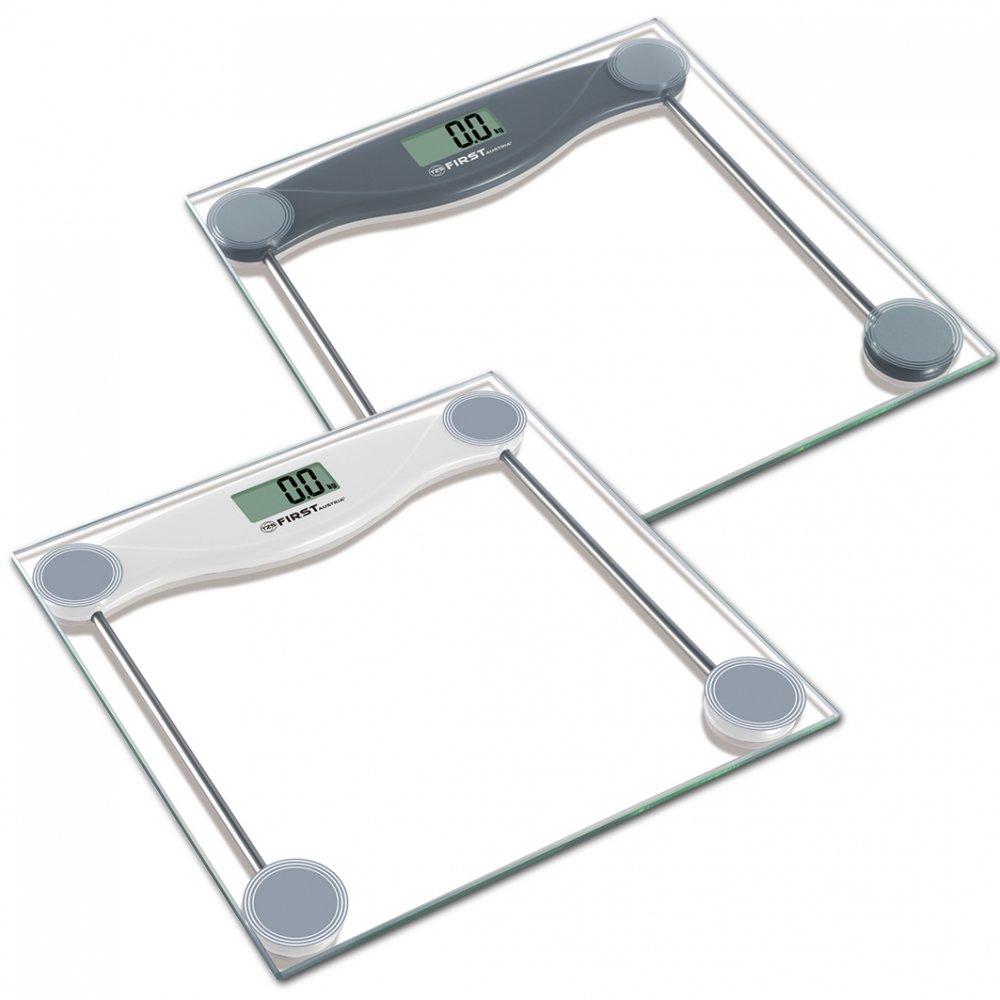 Весы напольные FIRST 8013-3 greyВесы - мерило достижений<br>Стильные напольные весы First 8013-3 помогут не только контролировать свой вес с точностью 100 грамм, но и станут еще одним атрибутом любого интерьера, так как имеют устойчивую и особо прочную стеклянную платформу.<br>