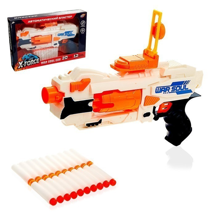 Купить Бластер War soul gun, стреляет мягкими пулями, работает от батареек, Игрушки для мальчиков