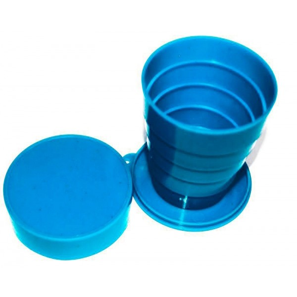 Раскладной стаканчик из СССР - синийРазное для туриста<br>Помните старые добрые стаканчики, которые занимали минимум места и в любой момент превращались в полноценный стакан, из которого можно пить как холодные, так и горячие напитки? Окунуться в ностальгию или показать своим детям изобретение, без которого сложно представить вашу молодость, поможет раскладной стаканчик из СССР синего цвета.<br>