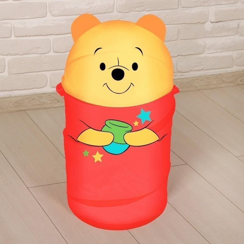 Корзина для игрушек - Медвежонок Винни и его друзья с ручками и крышкой