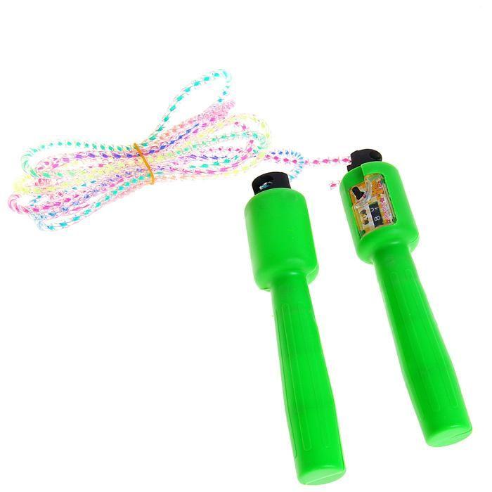 Скакалка со счетчиком Радуга, цвет - микс