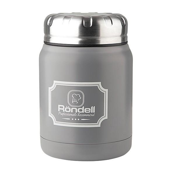 Термос для еды 0,5 л Grey Picnic Rondell 943-RDSТермосы<br>Новинка от Rondell - Термосы для еды серии Picnic<br>Термосы представлены в 4х цветах, изготовлены из высококачественной стали 18/10, что благоприятно влияет на долгосрочность использования изделия.<br>