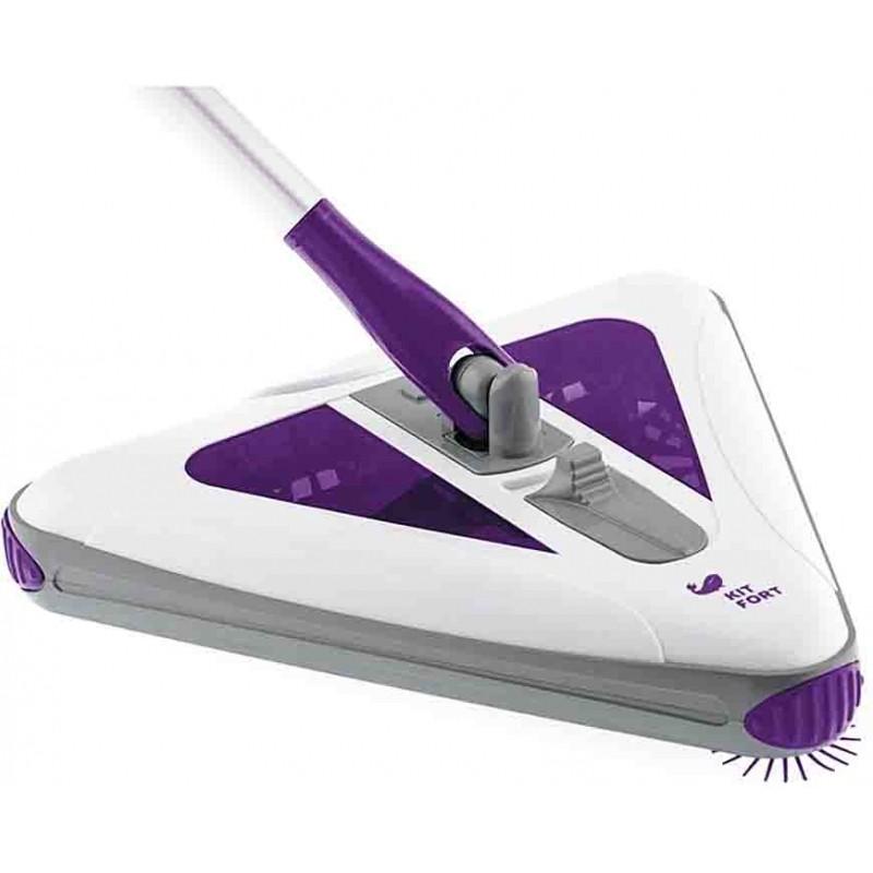 Электровеник Kitfort 508-КТ, фиолетовыйЭлектровеники<br>Электровеник Kitfort КТ-508 заменяет обычный веник и совок, облегчает и упрощает уборку дома.<br>