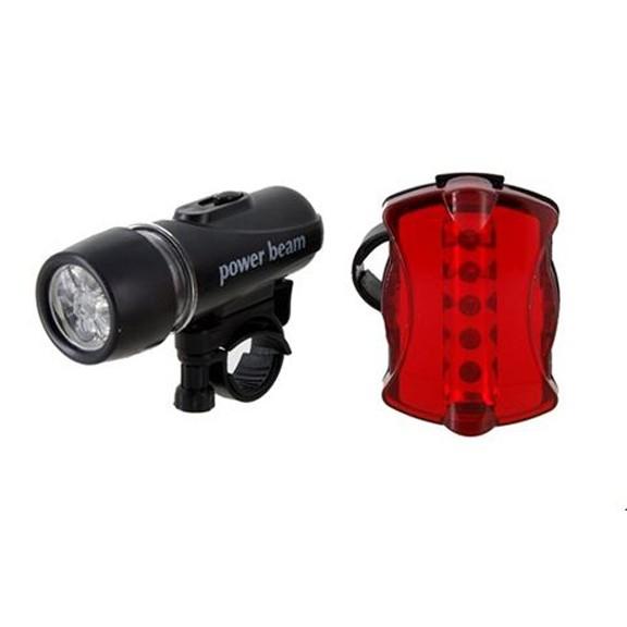 Комплект светодиодных фонарей на велосипедРучные фонари<br>Ехать ночью на велосипеде без света опасно для жизни. Под колесами может оказаться яма, а водитель машины может попросту не заметить вас. Комплект светодиодных фонарей на велосипед – это маленькое вложение ценою в вашу жизнь!<br>