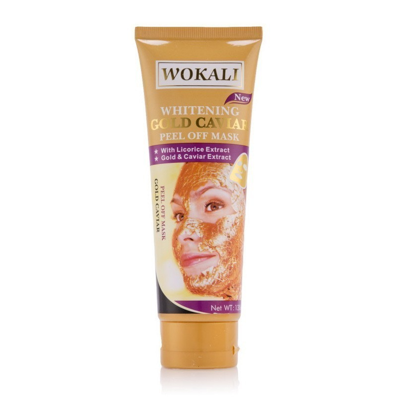 Маска для лица - Золотая маска Wokali Whitening Gold Caviar Peel Off MaskМаски для кожи<br>Благодаря этой маске, вы сможете быстро избавиться от любых недостатков кожи. Любые покраснения и раздражения будут устранены, а вы почувствуете уверенность в себе!<br>