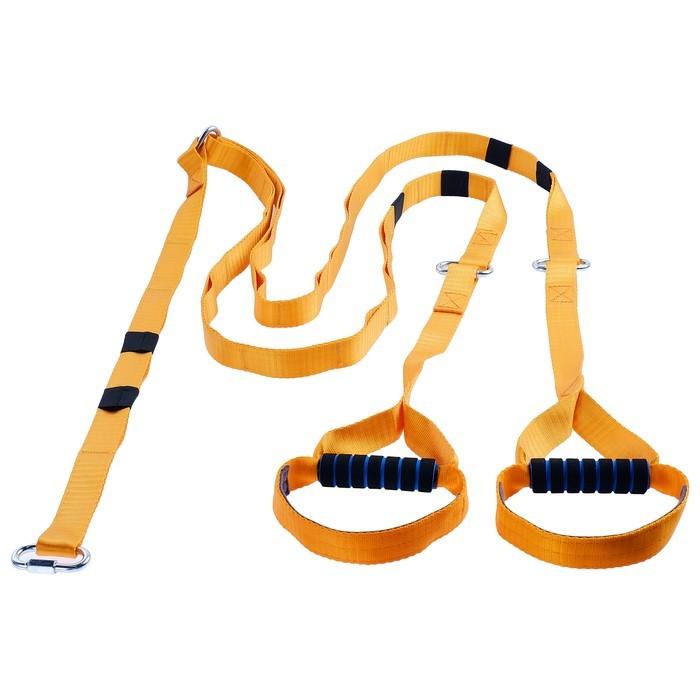 Эспандер-многофункциональный тренажёр — Тренировочные петли, регулируемый карабин, 36-14