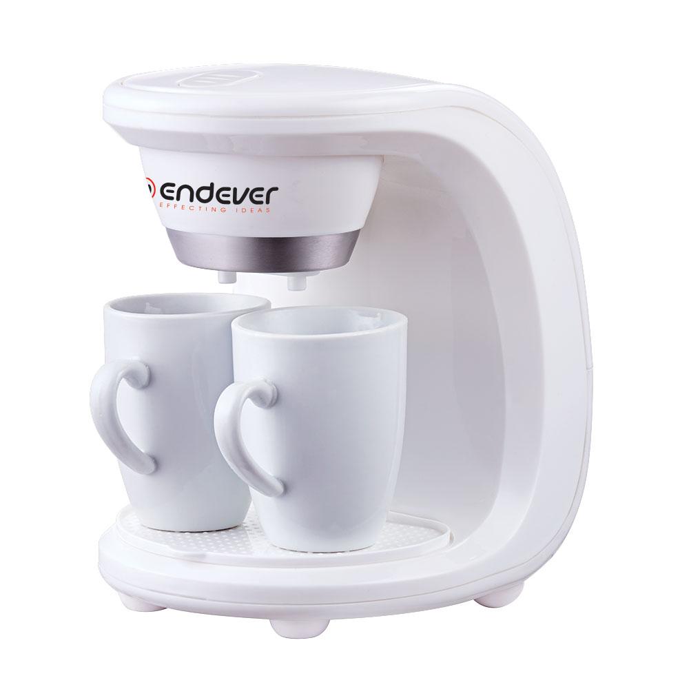 Kофеварка капельного типа Endever Costa 1040Кофеварки и кофемашины<br>Кофеварка Endever Costa-1040— великолепное решение для истинных поклонников крепкого бодрящего напитка. Простая, но максимально удобная конструкция прибора позволит вам без труда приготовить сразу 2 чашки натурального кофе, который подарит вам бодрость на целый день. Корпус выполнен из высококачественного пластика. Этот материал гарантирует привлекательный вид и прекрасные износоустойчивые характеристики кофеварки.<br>