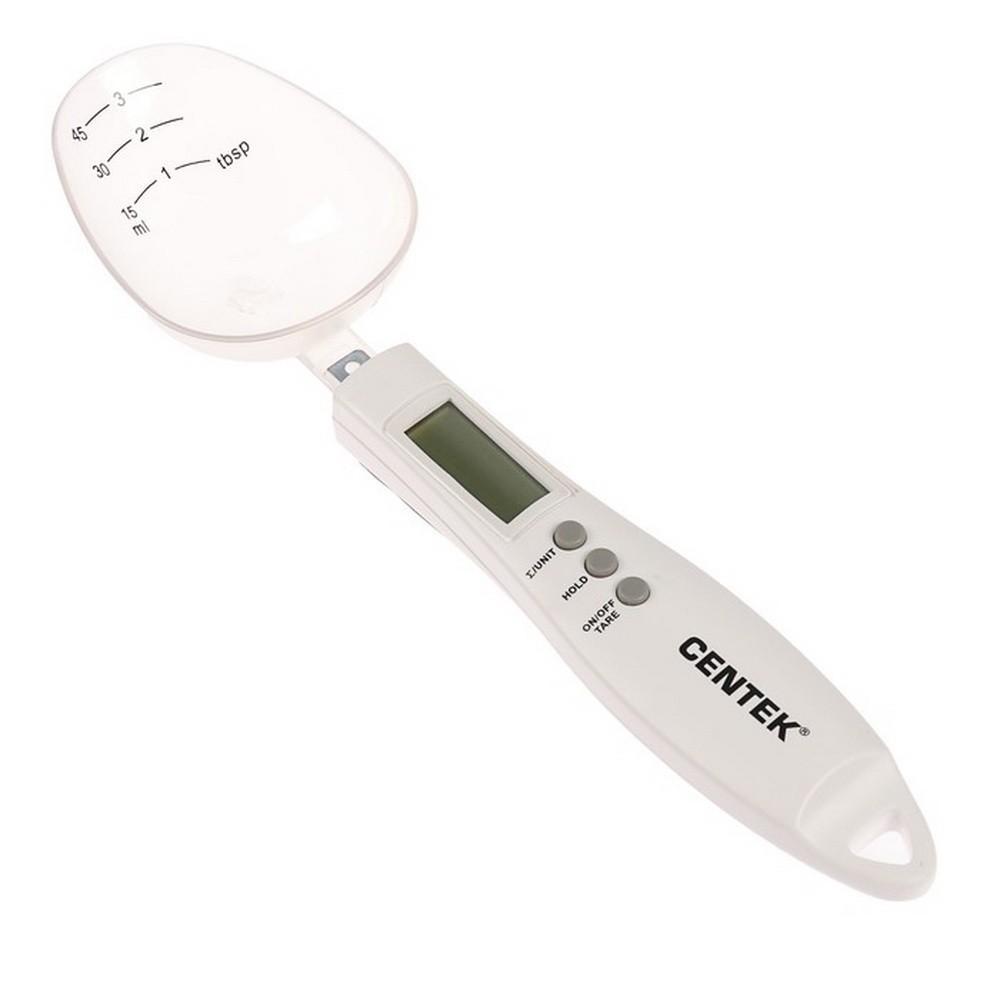Весы кухонные Centek CT-2460, электронные, до 0.3 кг, ложка, белые