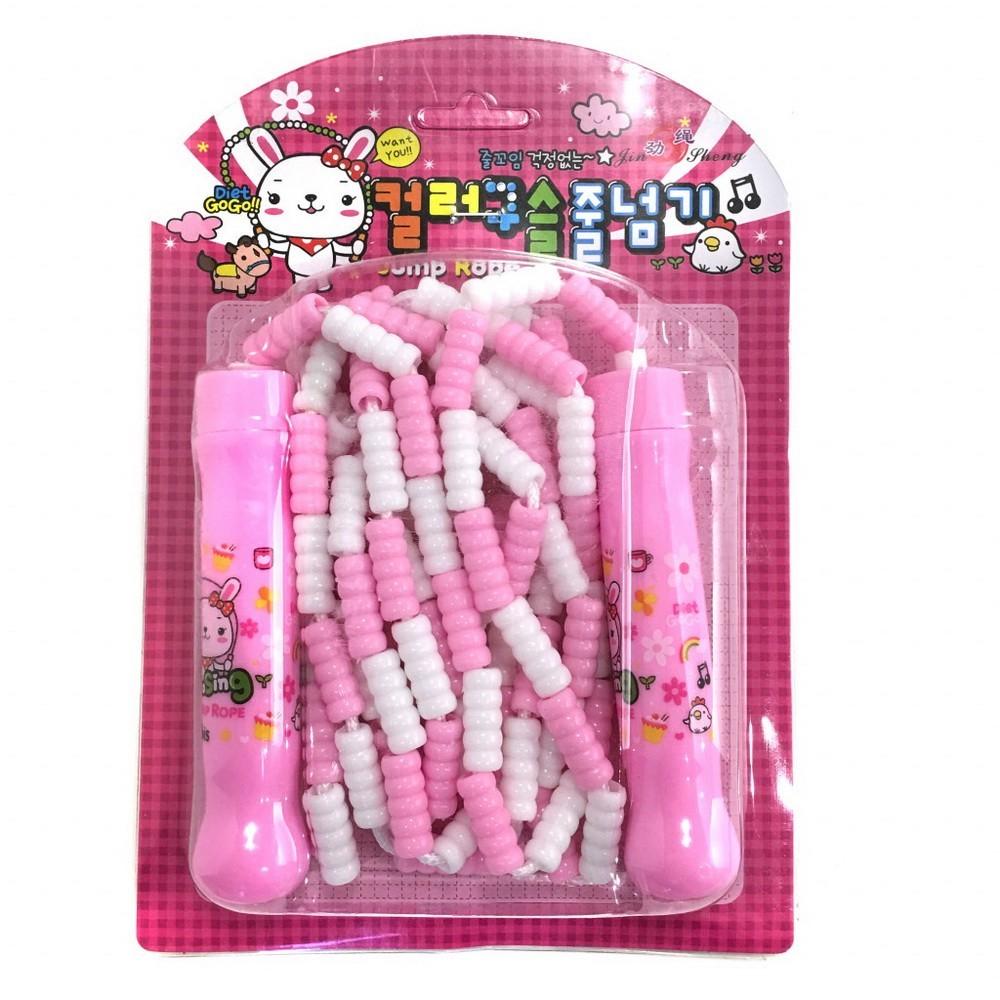 Детская скакалка с регулируемой длиной Jump Rope, розовый