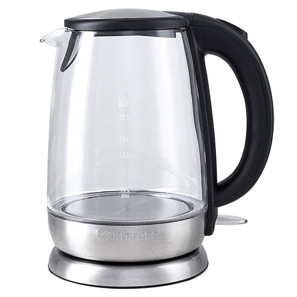 Чайник Kitfort 619-КТЭлектрочайники и термопоты<br>Электрический чайник Kitfort КТ-619 предназначен для кипячения воды дома, в офисах и на дачах. Мощность чайника позволяет использовать его в домах со слабой проводкой. В носик чайника встроен фильтр.<br>