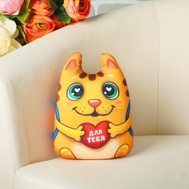 Мягкая игрушка-антистресс — Котик с сердечком