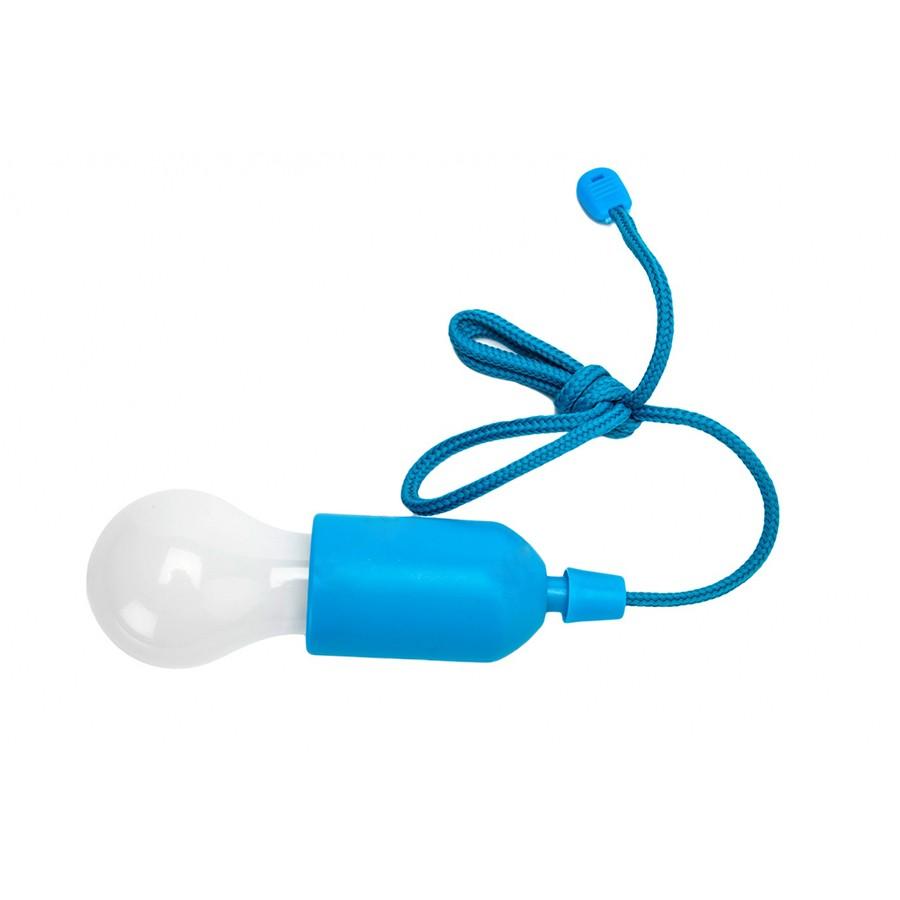 Светильник светодиодный Лампочка на шнурке, цвет голубой