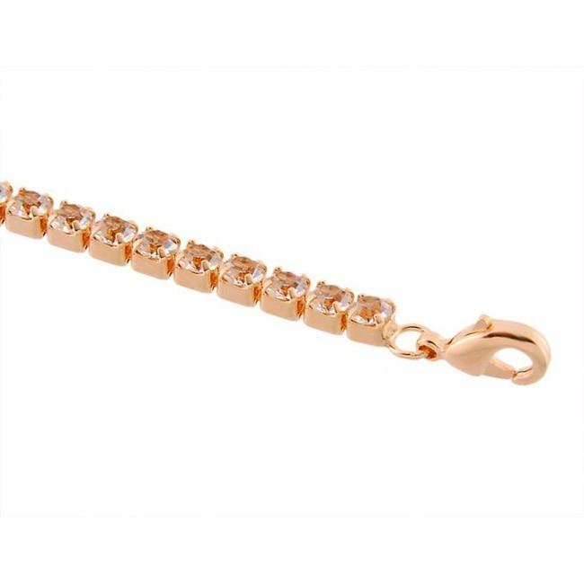 Браслет с кристаллами «Змейка» - цвет золото от MELEON