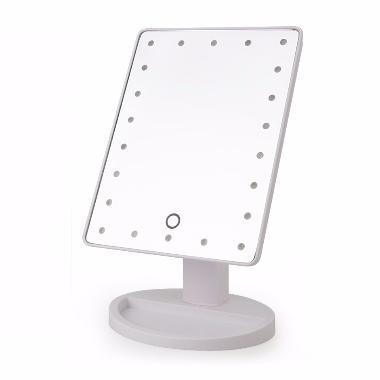 Косметическое зеркало с подсветкой Large Led Mirror белыйЗеркала<br>Хотите наносить макияж в домашних условиях максимально качественно? Вам поможет революционное косметическое зеркало с подсветкой Large Led Mirror. Аксессуар обеспечит грамотное освещение, потому вы будете справляться с задачами не хуже профессионалов!<br>