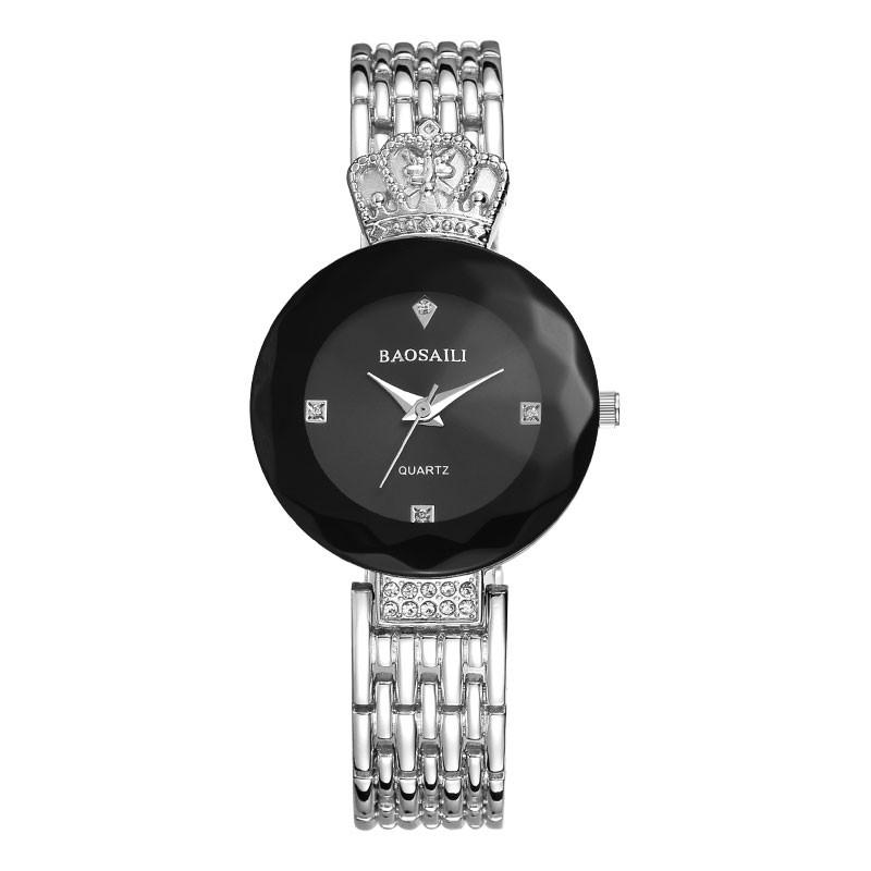 Модные часы с короной Baosaili, сереброЖенские часы<br>Если вы понимаете, как важны для девушки аксессуары, то посмотрите на модные часы с короной Baosaili! Это изделие завоевало сердца миллионов представительниц прекрасного пола, благодаря своему исключительному дизайну.<br>