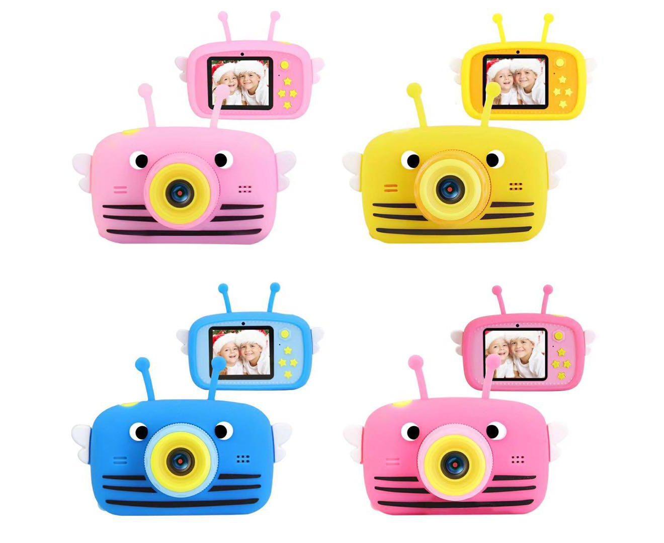 Детский фотоаппарат X9 - Пчёлка, розовый