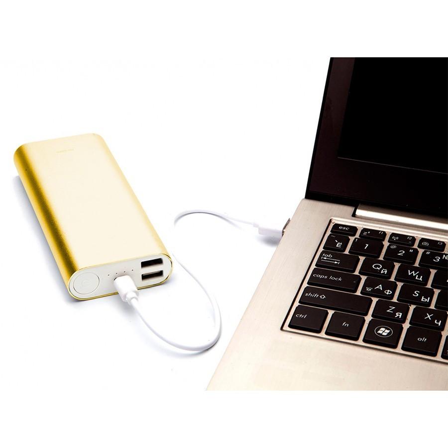 Аккумулятор внешний 10 000 mAh, золотойВнешние аккумуляторы<br>Современные гаджеты разряжаются в самый неподходящий момент. Не покупать же вам для смартфона, планшета или электронной книги дополнительное дорогостоящее зарядное устройство? А что делать, если вы столкнулись дома с перебоями электричества, но ждете очень важного звонка? Батарея больше никогда предательски не разрядится, ведь в любой момент вам поможет внешний аккумулятор 10000 мАч!<br>