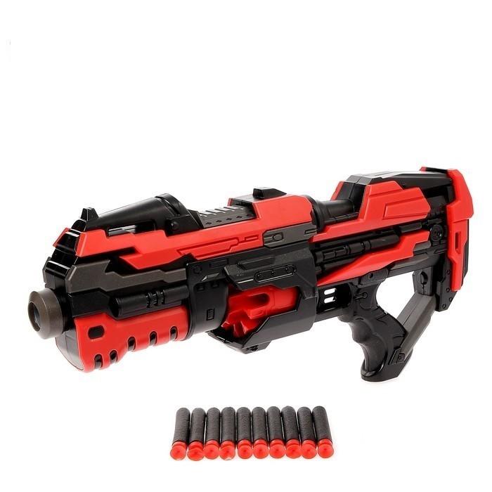 Автоматический бластер Rotor Gun, стреляет мягкими пулями, работает от батареек, Игрушки для мальчиков  - купить со скидкой