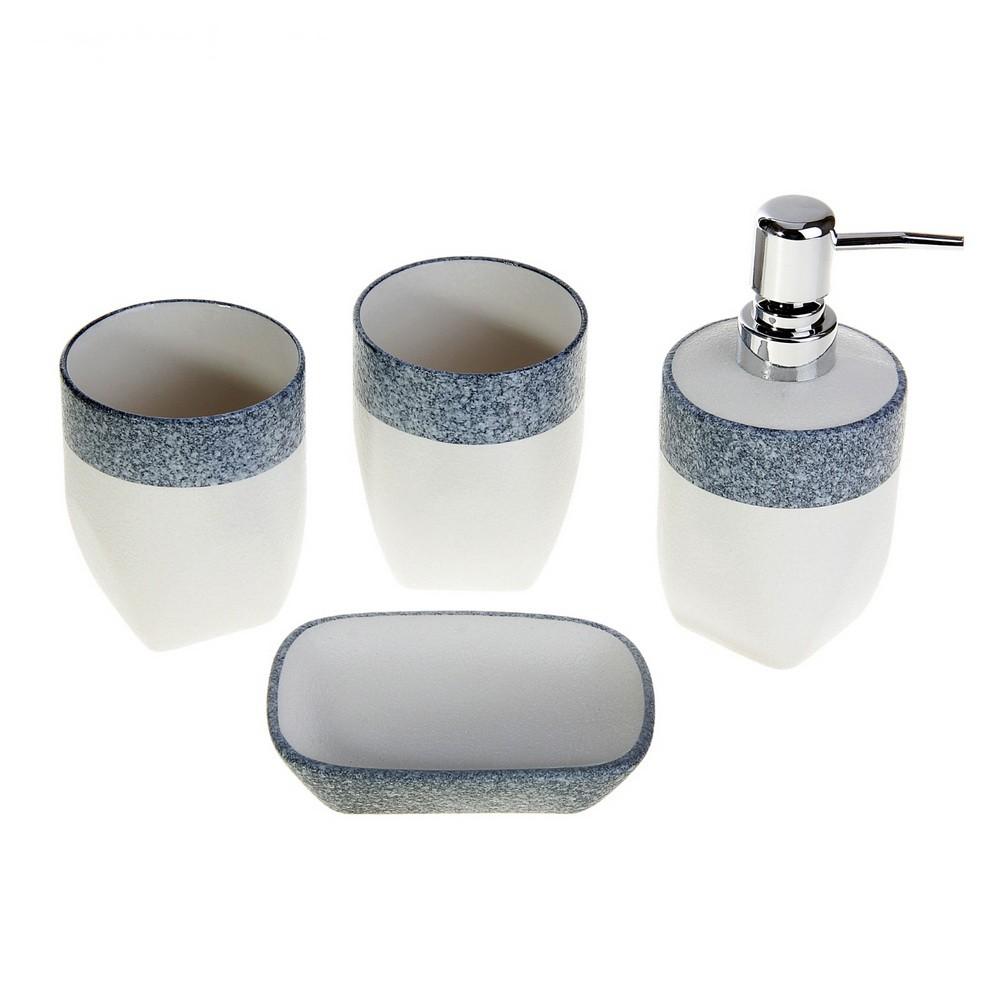 Набор аксессуаров для ванной комнаты 4 предмета
